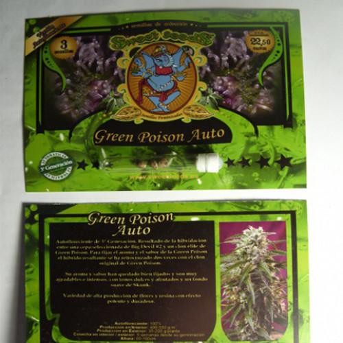 Auto Green Poison Feminised насіння конопель: фото, характеристики, відгуки, опис